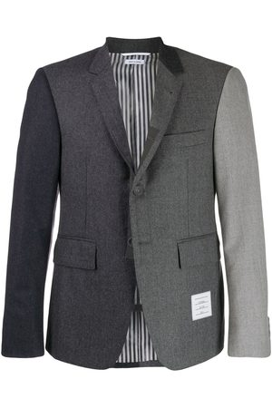 Thom Browne Super 120s Flannel Sport Coat - Grey