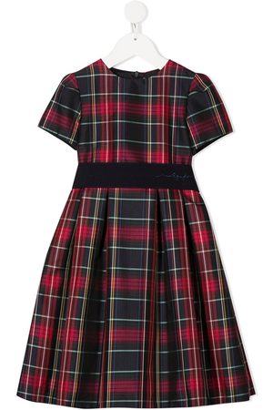 Il gufo Tartan print dress
