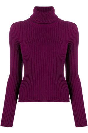 Saint Laurent Roll-neck ribbed-knit jumper