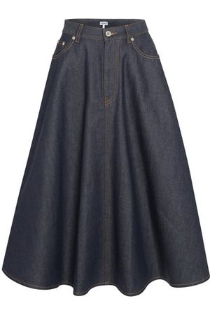 Loewe Pleated denim skirt