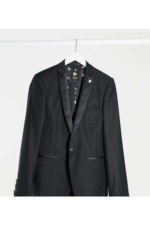 Twisted Tailor TALL tuxedo jacket in with satin shawl lapel