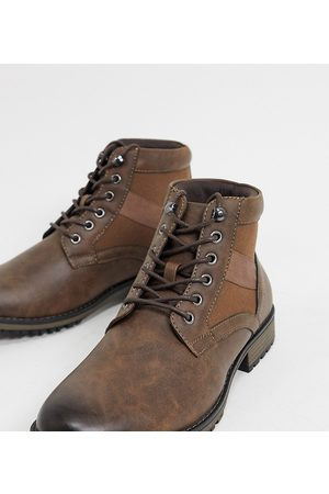 ASOS Wide Fit lace up boot in faux leather