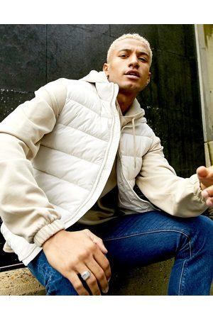 ASOS Puffer vest in ecru-Cream
