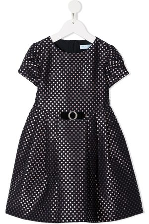 Abel & Lula Short-sleeved polka dot print dress