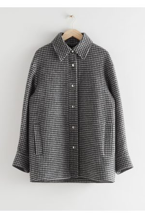 & OTHER STORIES Oversized Wool Blend Jacket