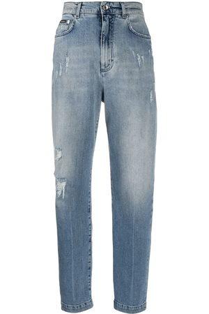 Dolce & Gabbana Women Boyfriend Jeans - Ripped detail boyfriend jeans