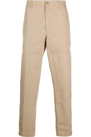 Lanvin Men Straight Leg Pants - Straight-leg cotton trousers - Neutrals