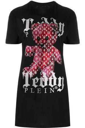 Philipp Plein Teddy bear print T-shirt dress