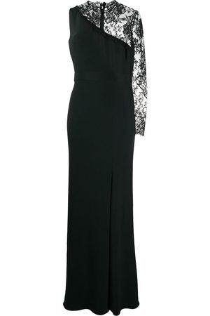 Alexander McQueen Single lace sleeve evening dress