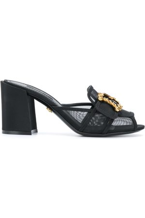 Dolce & Gabbana Women Sandals - 75mm Keira Baroque logo mesh sandals