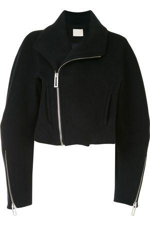 DION LEE Cropped wool biker jacket