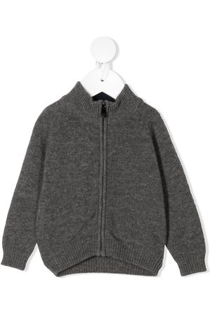 Il gufo High neck knitted jacket - Grey