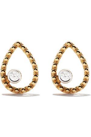 AS29 Women Earrings - 18kt yellow Mye pear beading diamond earrings