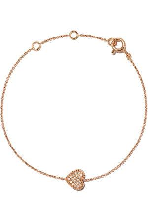 AS29 Women Bracelets - 18kt rose Mye heart beading pave diamond bracelet