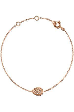 AS29 Women Bracelets - 18kt rose Mye pear beading pave diamond bracelet
