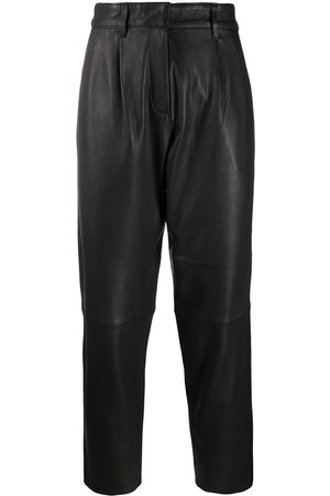 Munderingskompagniet Straight-leg leather trousers