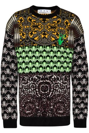 OFF-WHITE Persian Fantasy knitted jumper