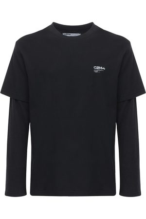 C2H4 Double Layer Long-sleeve Cotton T-shirt