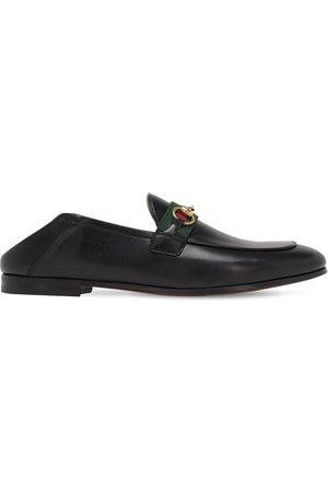 Gucci Women Loafers - 10mm Brixton Leather Loafers
