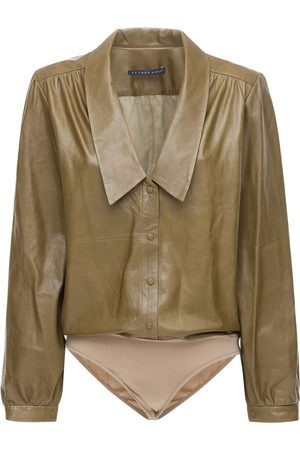 Zeynep Arcay Leather Bodysuit W/ Collar