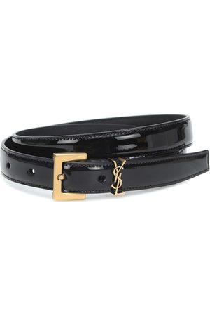 Saint Laurent Monogram patent leather belt