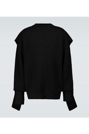 Balenciaga Hood multi-layered crewneck sweater