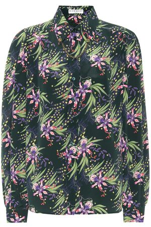 Givenchy Chain-trimmed floral silk shirt