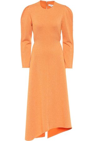 tibi Asymmetric knit midi dress