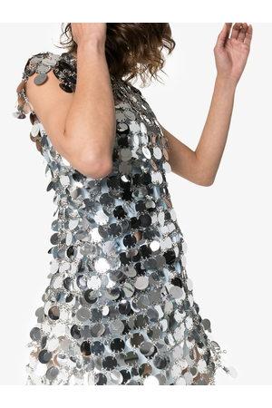 Paco rabanne Women Party Dresses - Sequin chain-disc mini dress - Metallic