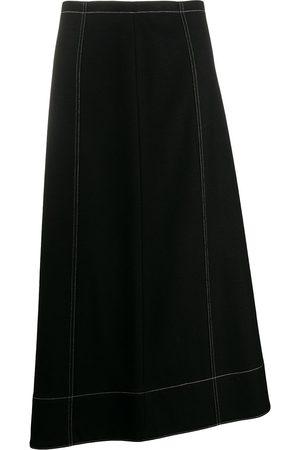 Jil Sander Women Midi Skirts - Asymmetric midi skirt