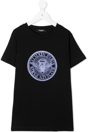 Balmain Logo patch T-shirt