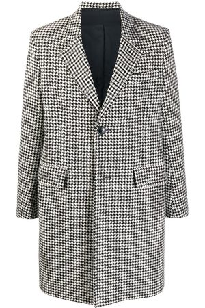 Ami Houndstooth single-breasted coat