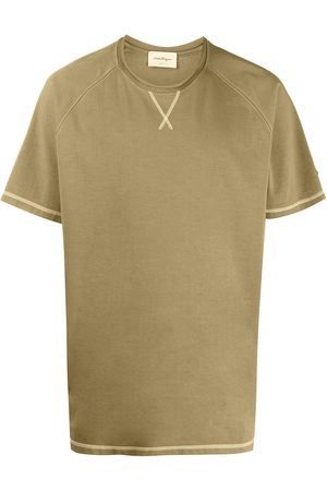 Salvatore Ferragamo Stitching-detail crew-neck T-shirt
