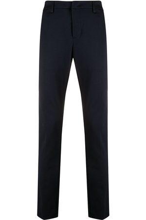 DONDUP Men Formal Pants - Slim-fit piqué trousers