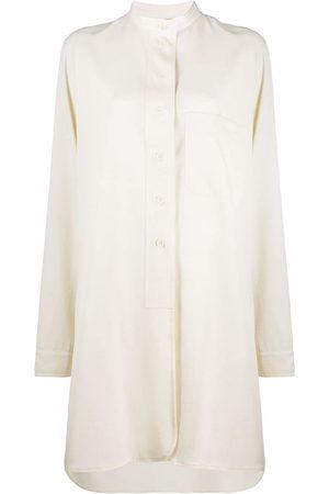 Lemaire Women Casual Dresses - Mandarin collar cotton shirt dress