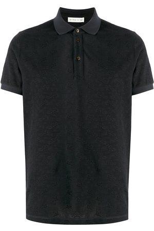 Etro Men Polo Shirts - All-over logo cotton polo