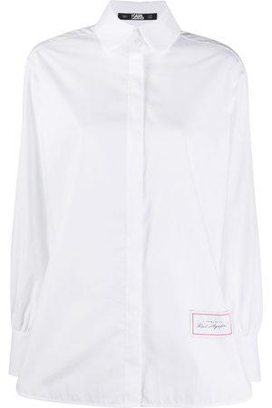 Karl Lagerfeld Poplin long-sleeve shirt