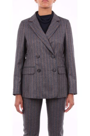 PESERICO SIGN Blazer Women and camel virgin wool - polyester and spandex