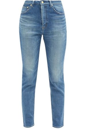 TU ES MON TRESOR Women High Waisted - Sapphire High-rise Straight-leg Jeans - Womens - Denim