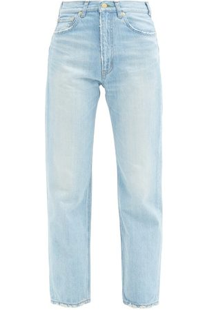 TU ES MON TRESOR Women High Waisted - Emerald High-rise Straight-leg Jeans - Womens - Light Denim