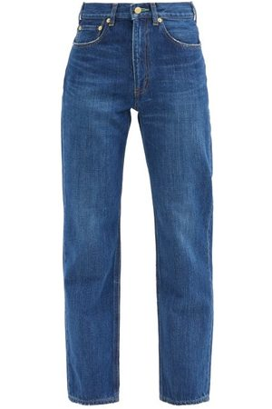 TU ES MON TRESOR Emerald High-rise Straight-leg Jeans - Womens - Dark Denim