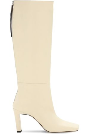 Wandler Women Thigh High Boots - 85mm Isa Leather Tall Boots