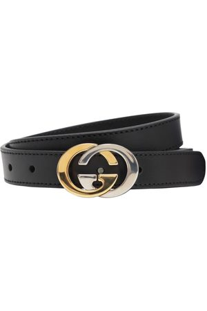 Gucci Girls Belts - Interlocking G Leather Belt