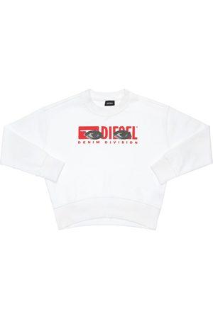 Diesel Logo Print Cotton Sweatshirt