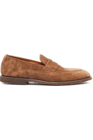 Brunello Cucinelli Suede Penny Loafers - Mens