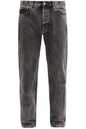Séfr Men Straight - Marbled-wash Straight-leg Jeans - Mens - Grey