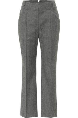 Fendi Wool high-rise straight pants