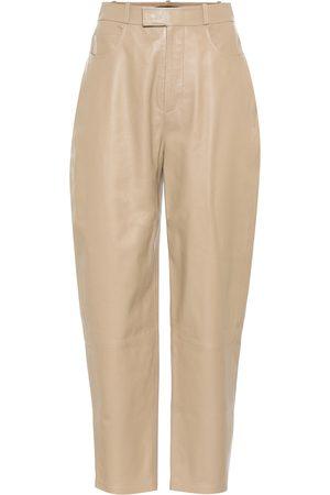 Zeynep Arcay High-rise leather carrot pants