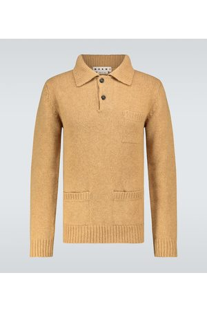 Marni Hole long-sleeved knitted polo