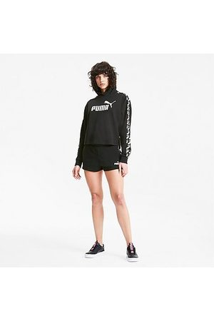 PUMA Women's Amplified Cropped Training Hoodie in Size X-Small Cotton/Polyester